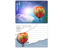 熱氣球明信片-3Phone