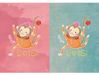 2016年新年賀卡設計-FanMo